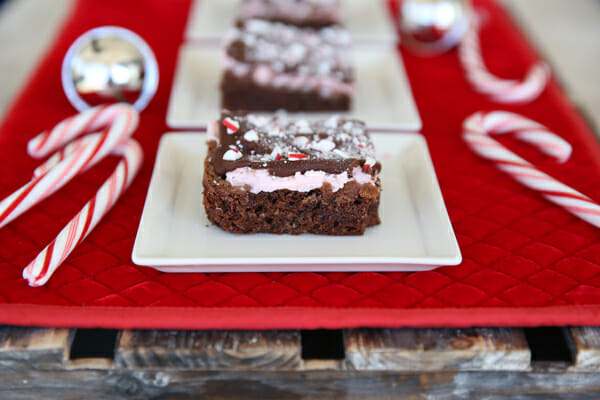 Candy Cane Brownies from Our Best Bites