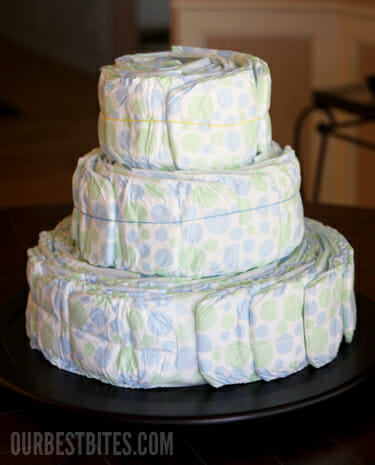 How To Make A Diaper Cake Instructions