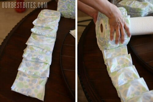 Best Way To Roll Diapers For Diaper Cake