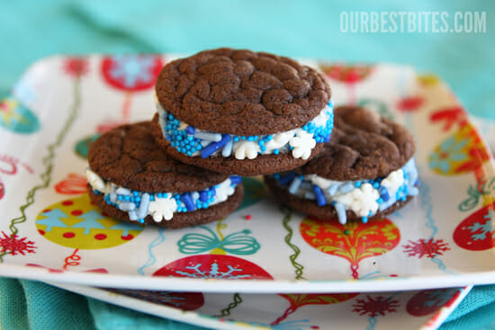 Chocolate Peppermint Sandwich Cookies - Our Best Bites