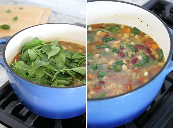 Adding Spinach to Soup