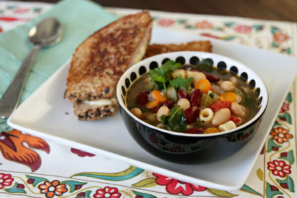 Healthy Veggie-Packed Minestrone Soup from Our Best Bites
