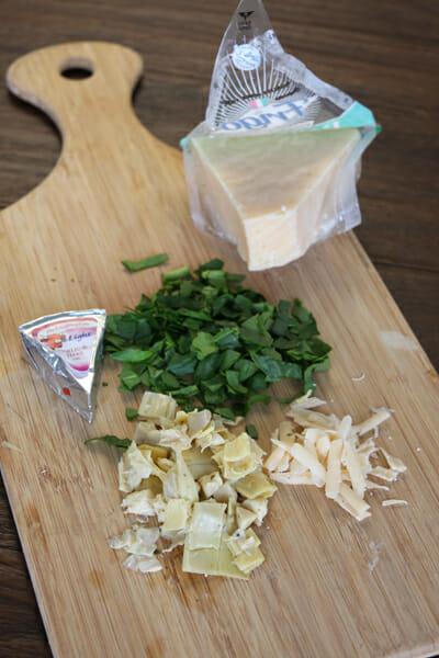 Spinach Artichoke Prep