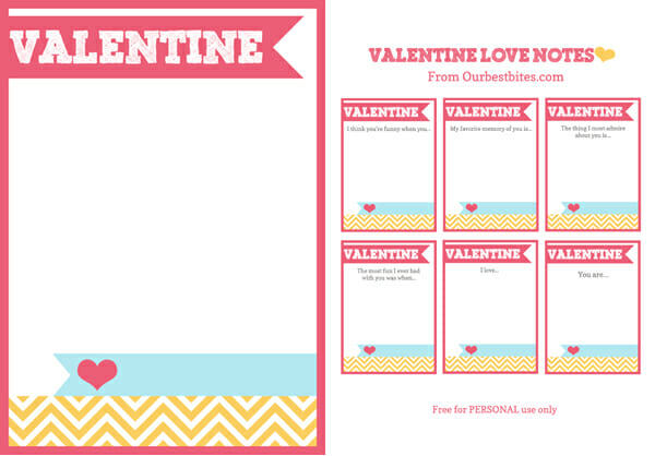 Printable Valentine Love Notes Our Best Bites