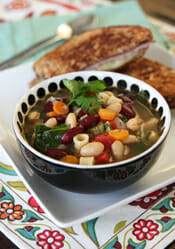 Veggie adn Bean Minestrone Soup from Our Best Bites