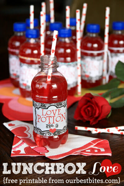 Free Love Potion Printable from Our Best Bites