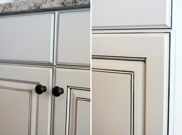Light Gray Kitchen Cabinets With Chocolate Glaze