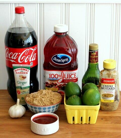 cranberry cola glazed ribs ingredients