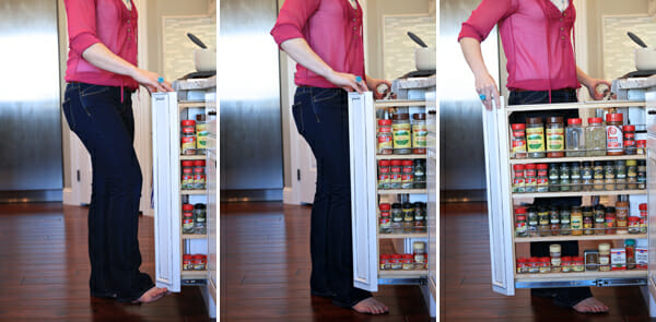Pull-Out Spice Storage