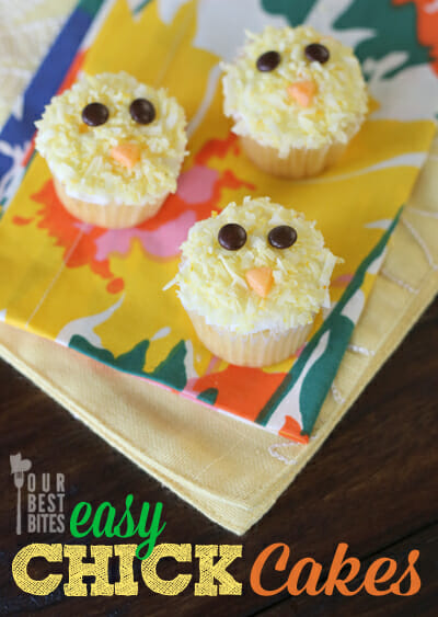 Easy Baby Chick Cupcakes from Our Best Bites