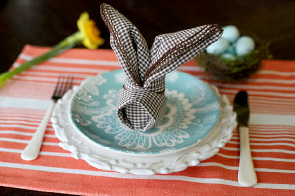 Easy Bunny Fold Napkins for Easter