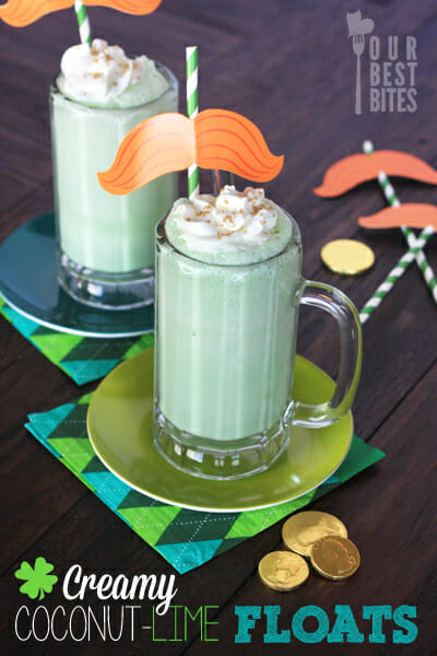 Slushy Coconut Lime Floats from Our Best Bites