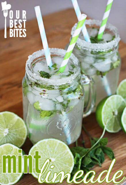 Copycat Cafe Rio Mint Limeade from Our Best Bites