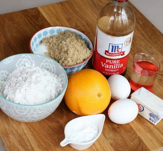 orange donut muffin ingredients