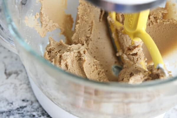 Soft peanut butter cookie dough