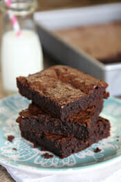 The most perfect brownies from Our Best Bites
