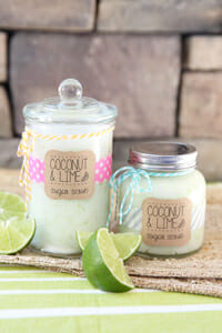 Coconut and Lime Sugar Scrub from Our Best Bites