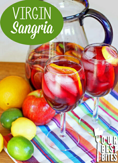 Easy virgin sangria from Our Best Bites