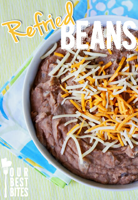 Our Best Bites version of Homesick Texan's Refried Beans. Best. Ever.