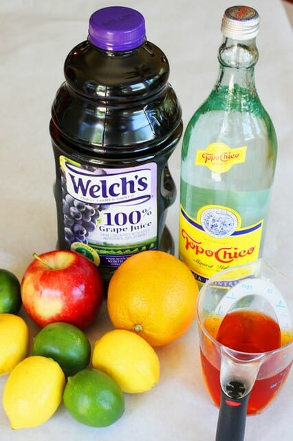 virgin sangria ingredients