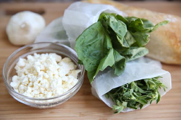 Feta Garlic Bread Ingredients