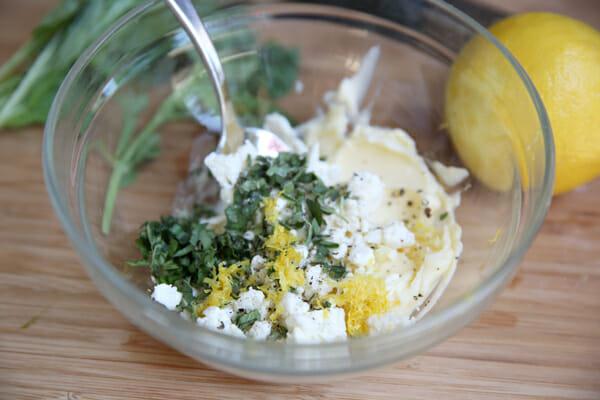 Feta and Herb Garlic Butter Ingredients
