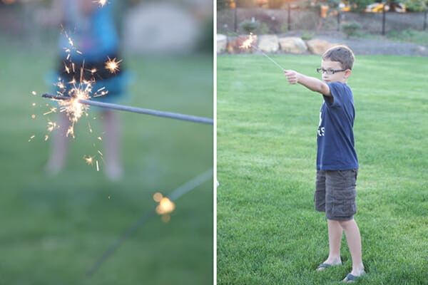 Lighting Sparklers