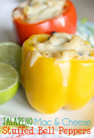 Jalapeno Mac and Cheeese Stuffed Peppers from Our Best Bites
