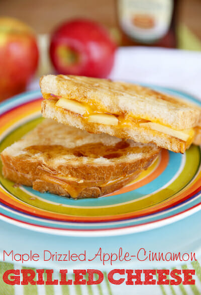 Maple Drizzled Apple Cinnamon Grilled Cheese from Our Best Bites sq