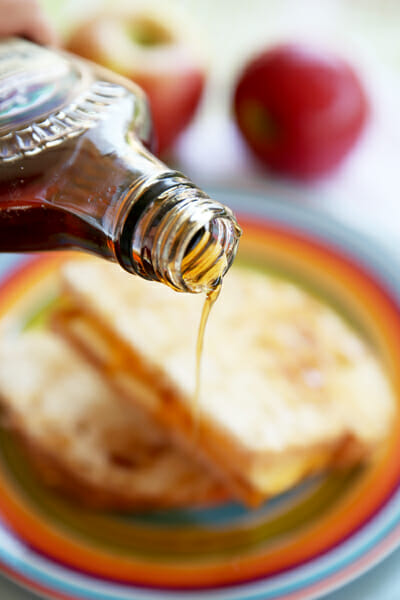 Maple Syrup on Sandwich