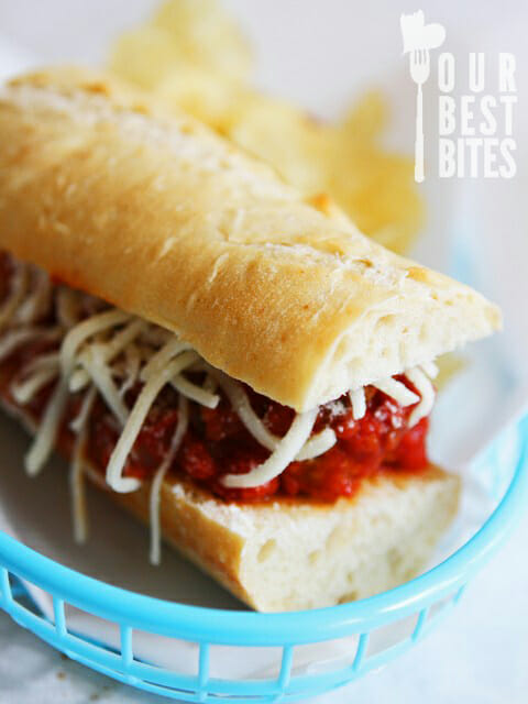 Meatball Subs from Our Best Bites