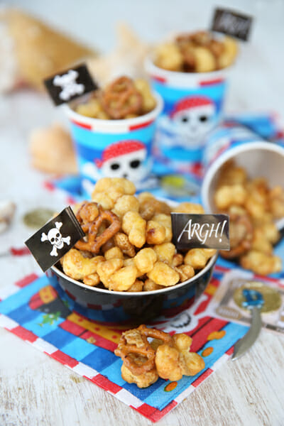 Caramel Covered Pirate's Booty Snack Mix