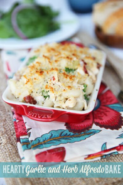 Garlic and Herb Alfredo Bake by Our Best Bites