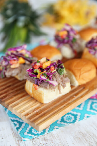 Hawaiian Pork Sliders from Our Best Bites