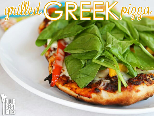 Grilled Greek Pizza from Our Best Bites