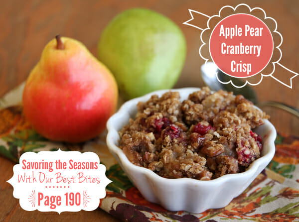 Apple Pear Cran Crisp from Our Best Bites
