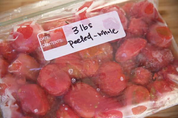 Frozen Peeled Tomatoes