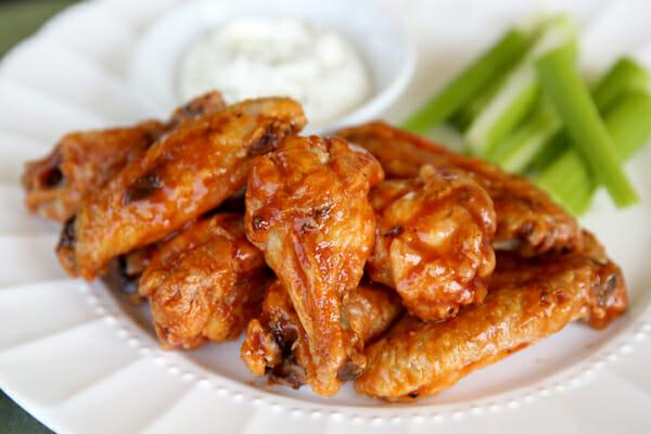 Oven Fried Crispy Glazed Chicken Wings