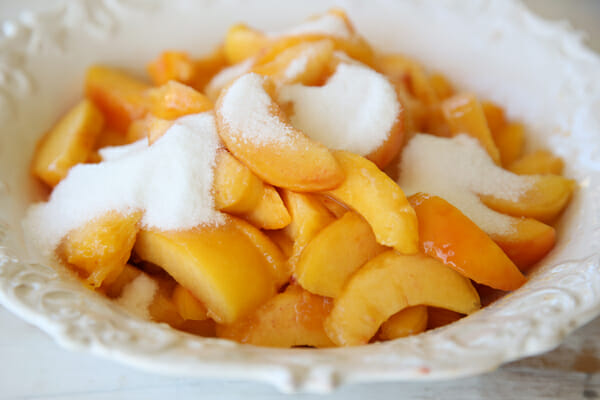 Sweet Sugared Peaches
