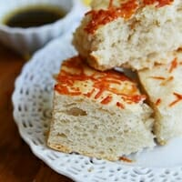 Cheesy Asiago Focaccia from Our Best Bites