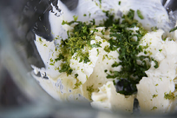Cilantro and Lime Zest in Butter
