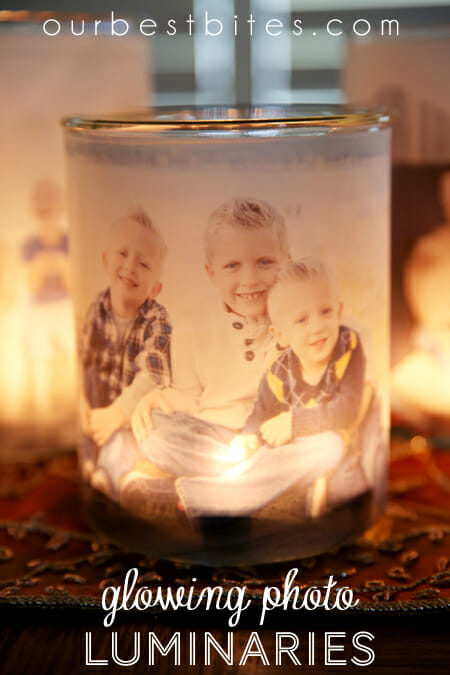Easy and Affordable Glowing Family Photo Luminaries from Our Best Bites