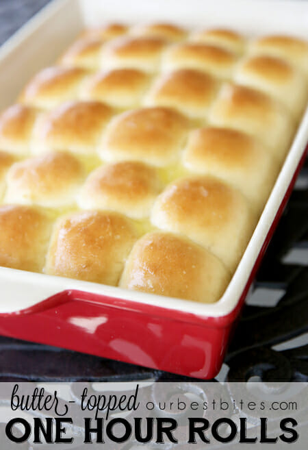 Buttery One Hour Dinner Rolls from Our Best Bites