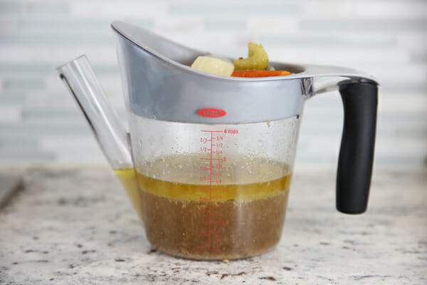Oxo Fat Separator Filled