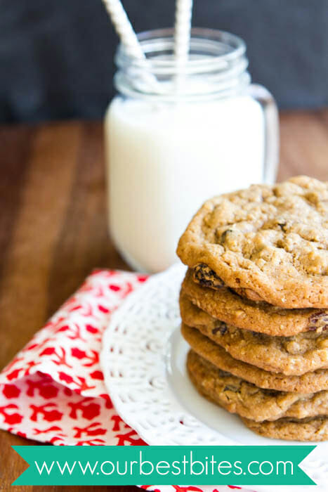 Giant oatmeal raisin cookies from Our Best Bites!