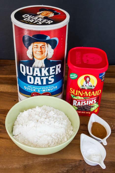 dry oatmeal raisin ingredients