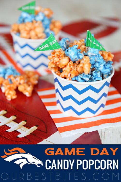 Broncos Superbowl Popcorn from Our Best Bites