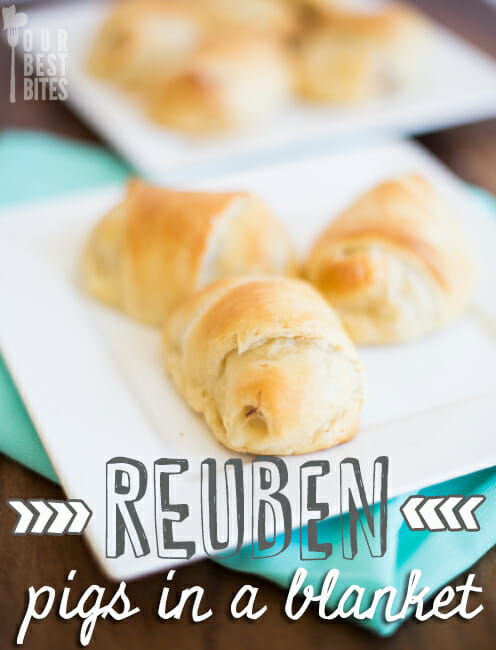 Super easy Reuben Pigs in Blankets from Our Best Bites