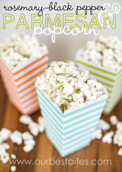 Rosemary Parmesan Black Pepper Popcorn from Our Best Bites