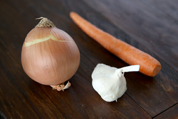 Onion, Garlic, Carrot
